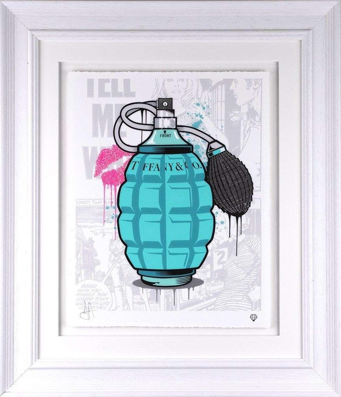 Tiffany & Co designer Grenade - Framed Art Print by JJ Adams