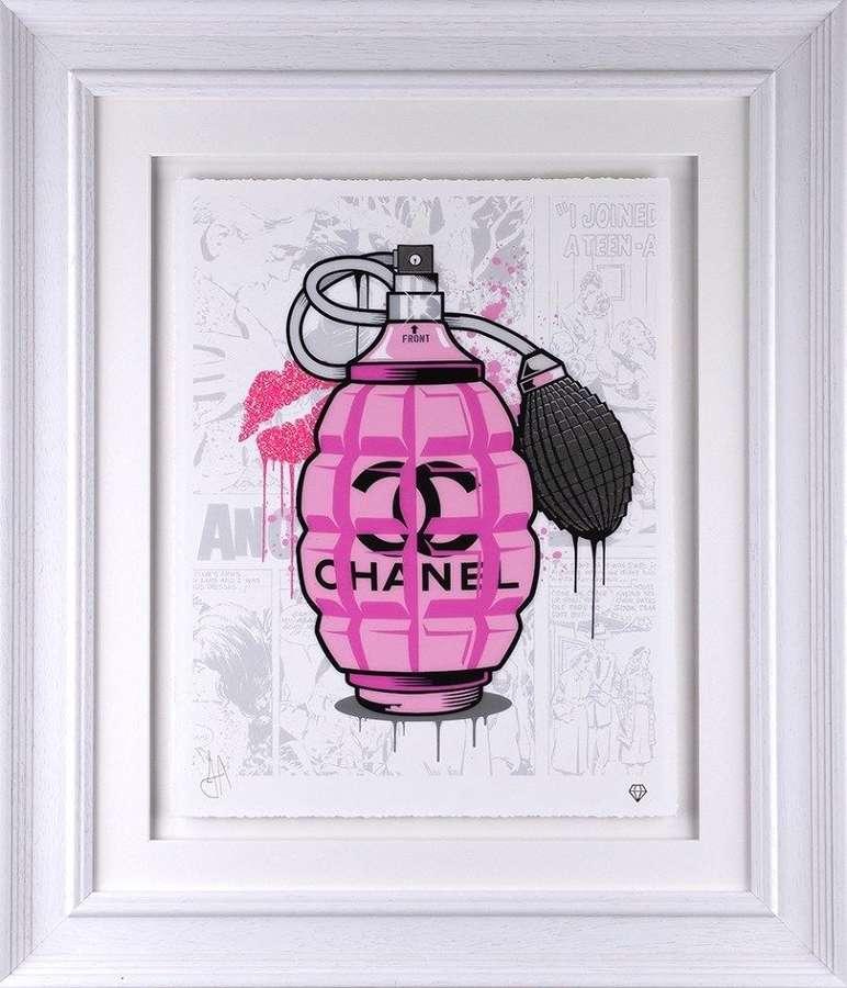 Designer Grenades - Chanel - Framed Art Print by JJ Adams