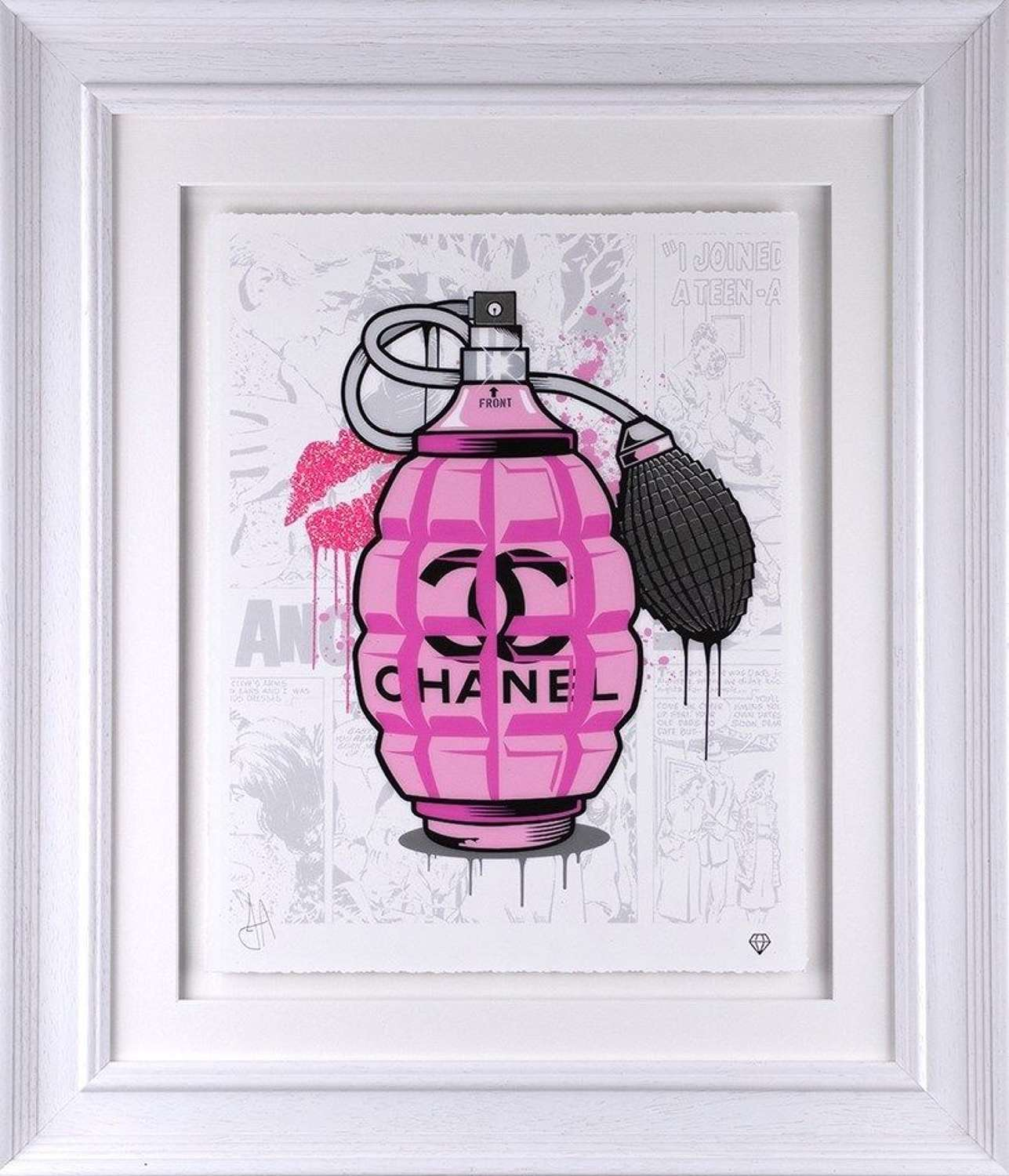 Designer Grenades - Chanel - Framed Art Print by JJ Adams