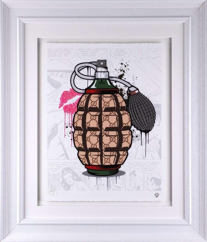 Designer Grenades - Gucci - Framed Art Print by JJ Adams