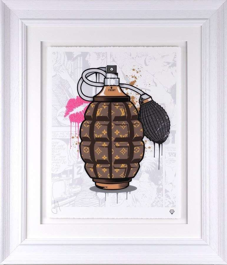 Designer Grenades - Louis Vuitton - Framed Art Print by JJ Adams