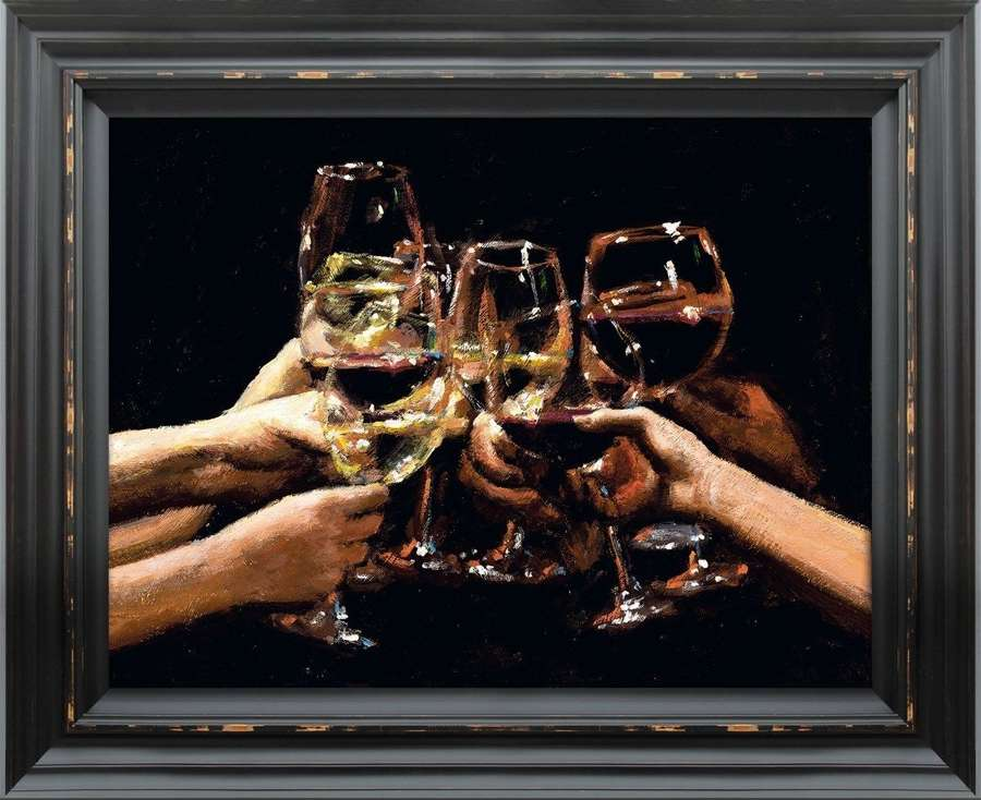 For a Better Life IX - Framed Canvas Art Print by Fabian Perez