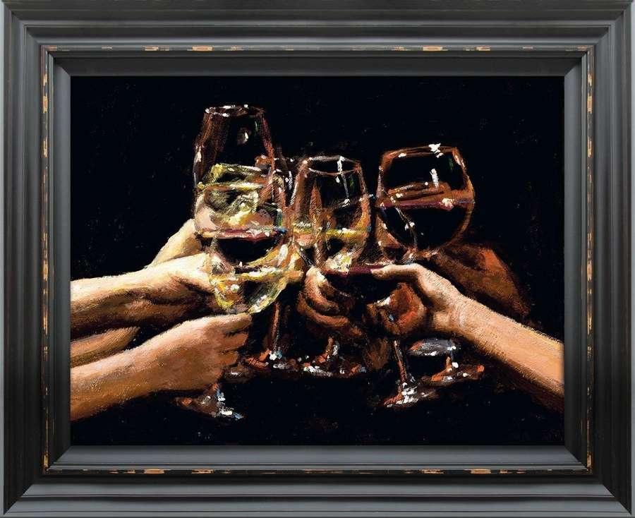 For a Better Life IX - Framed Canvas Art Print by Fabian Perez