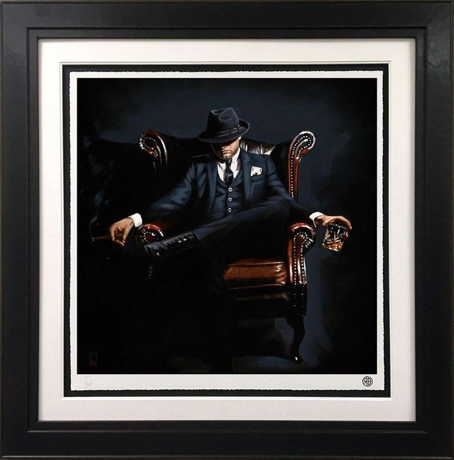 Self Made Man - Framed Art Print by Richard Blunt