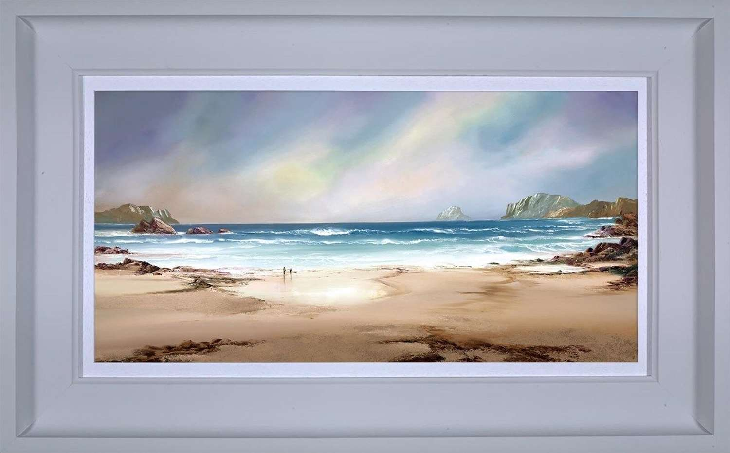 Peaceful Shores - Framed Canvas Art Print by Philip Gray