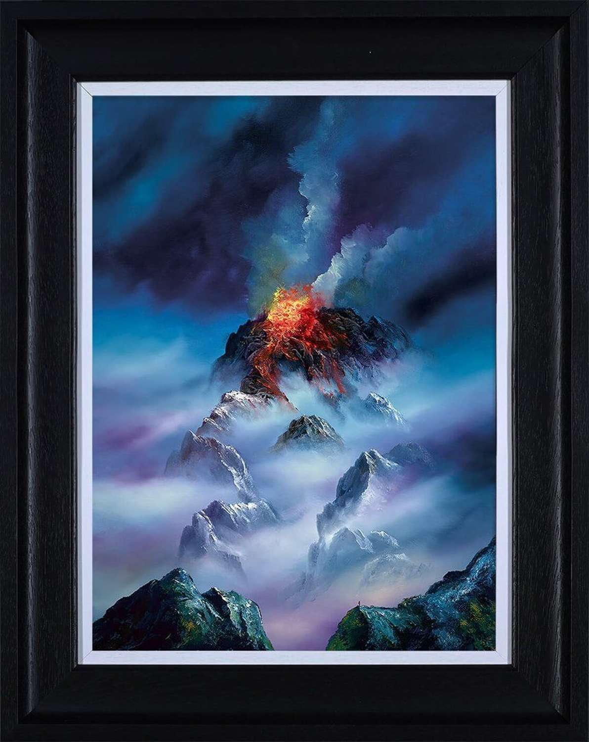 Blazing Clouds - Framed Canvas Art Print by Philip Gray