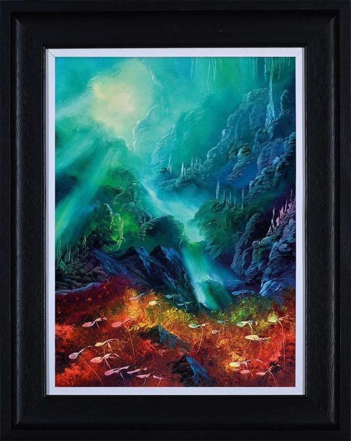 Colours of the Deep - Framed Canvas Art Print by Philip Gray