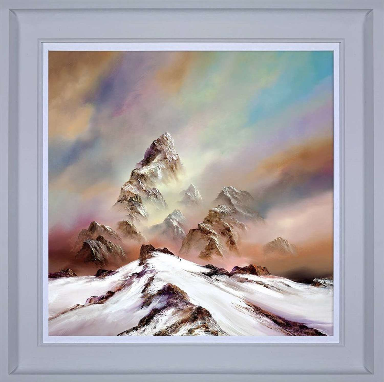 Reach for the Skies - Framed Canvas Art Print by Philip Gray