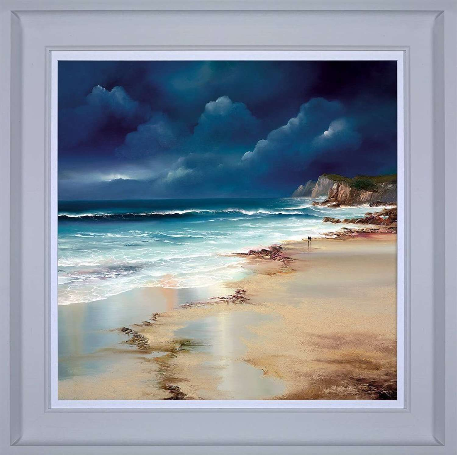 Twilight Walk - Framed Canvas Art Print by Philip Gray