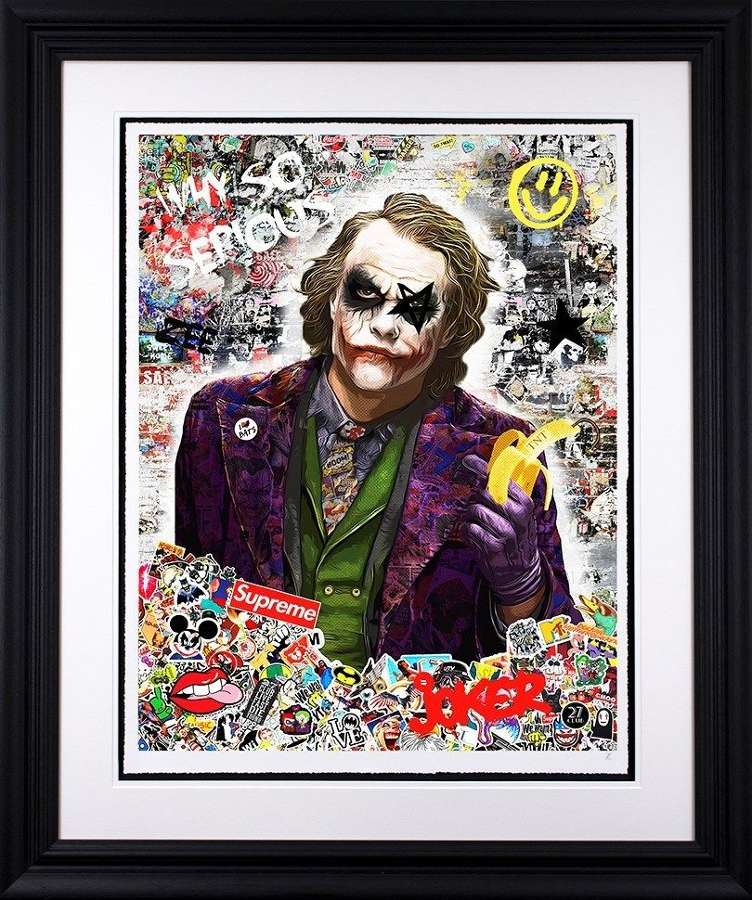 Why So Serious - Framed Art Print by Zee