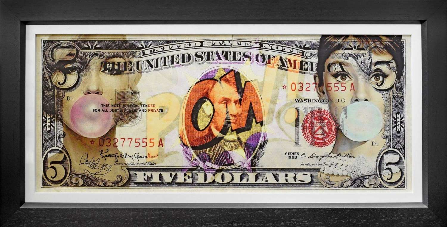 Legal Tender - Framed Canvas Art Print by onelife 183