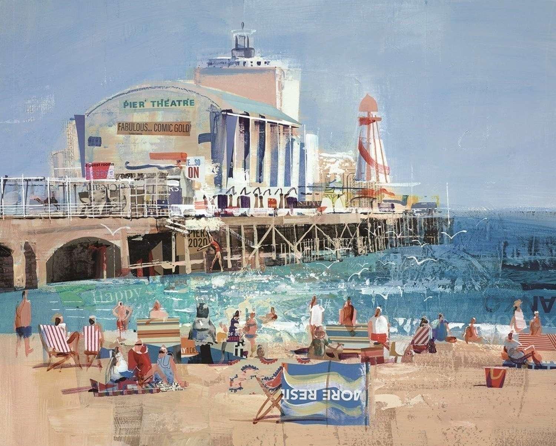 Bourne For The Beach - Framed Art Print by Tom Butler