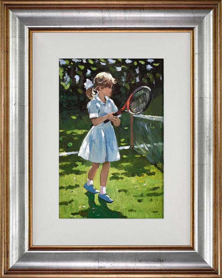 Playful Times l - Framed Canvas Art Print by Sherree Valentine Daines