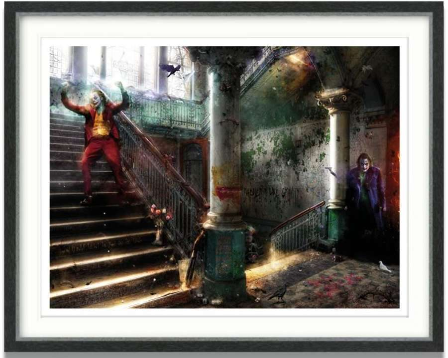 Smile (The Joker) - Framed Art Print by Mark Davies