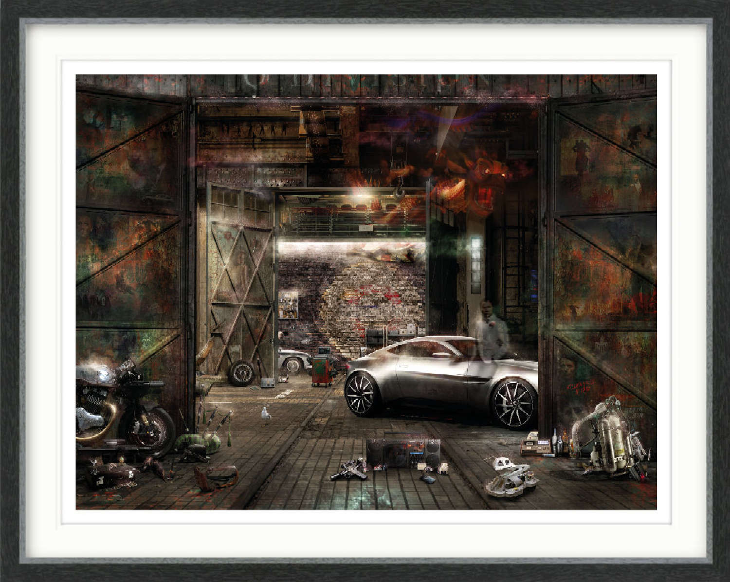 Q Division (James Bond) - Framed Art Print by Mark Davies