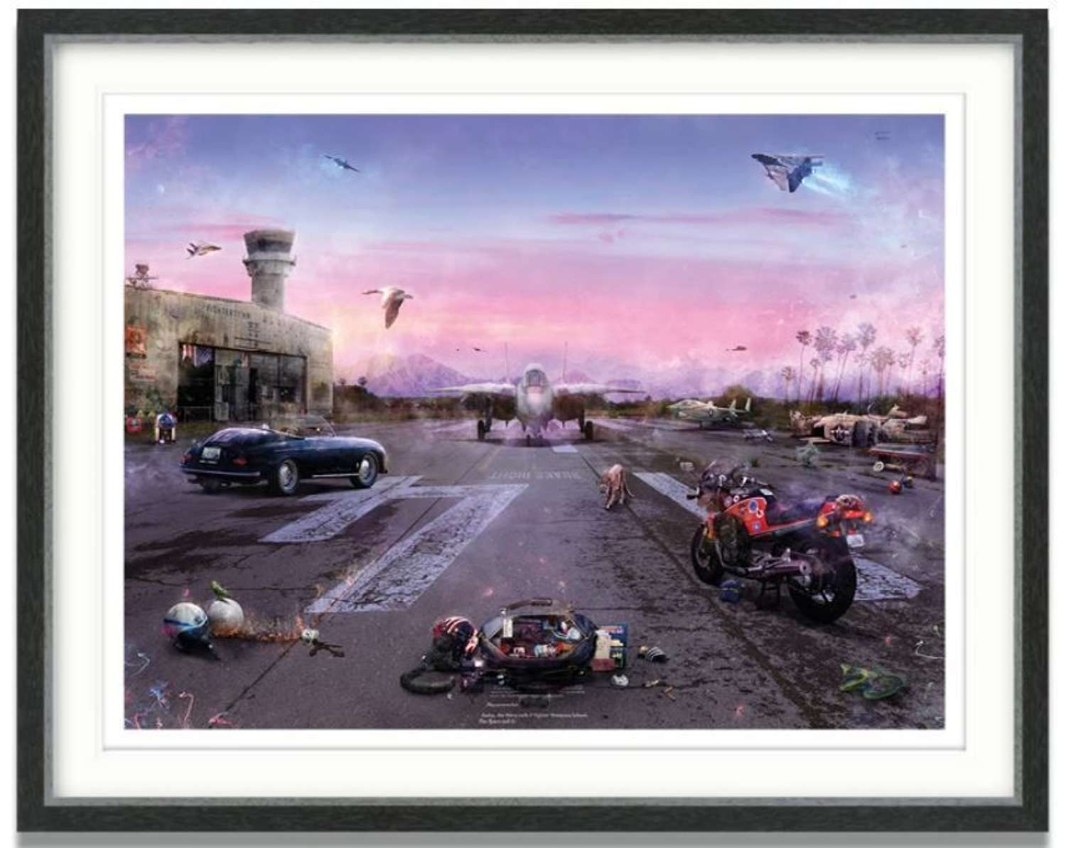Destination Unknown (Top Gun) - Framed Art Print by Mark Davies