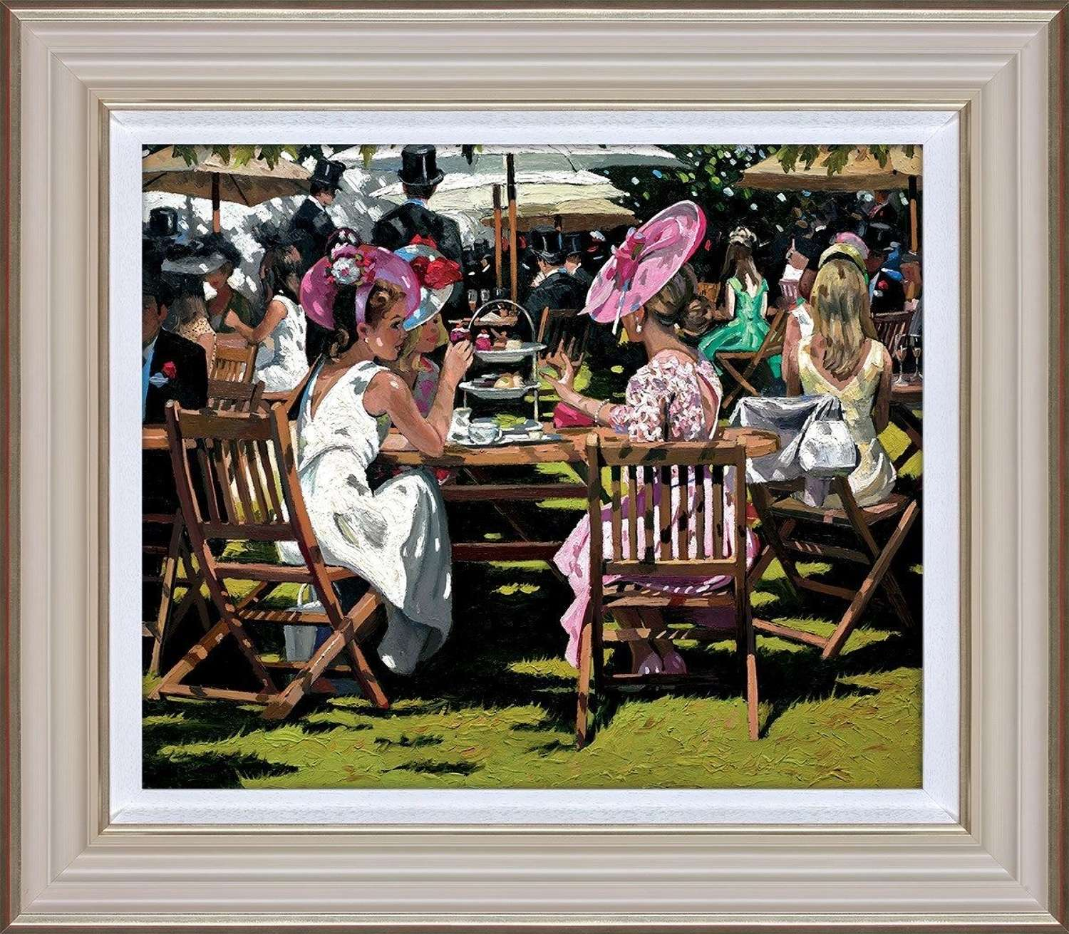 Afternoon Tea at Ascot - Framed Art Print by Sherree Valentine
