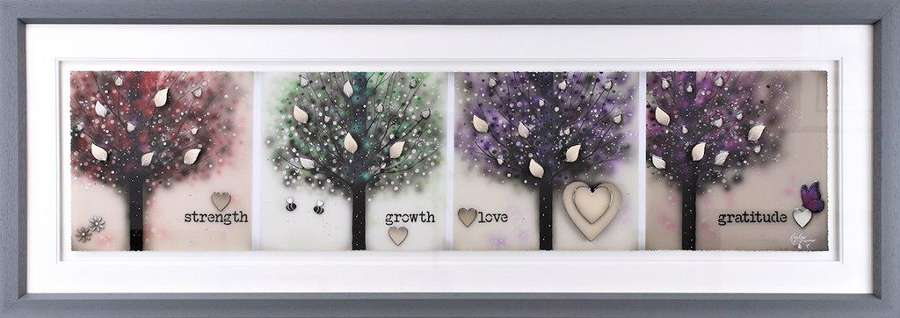 Strength, Growth, Love, Gratitude Framed Art Print by Kealey Farmer