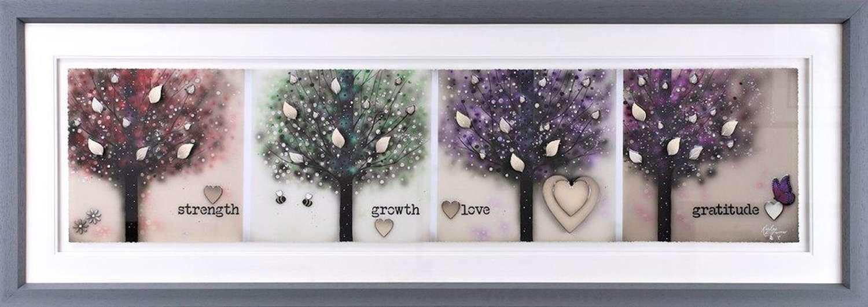 Strength, Growth, Love, Gratitude Framed Art Print by Kealey Farmer