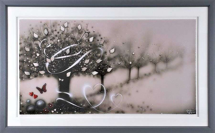 Wrapped Up In Love - Framed Art Print by Kealey Farmer