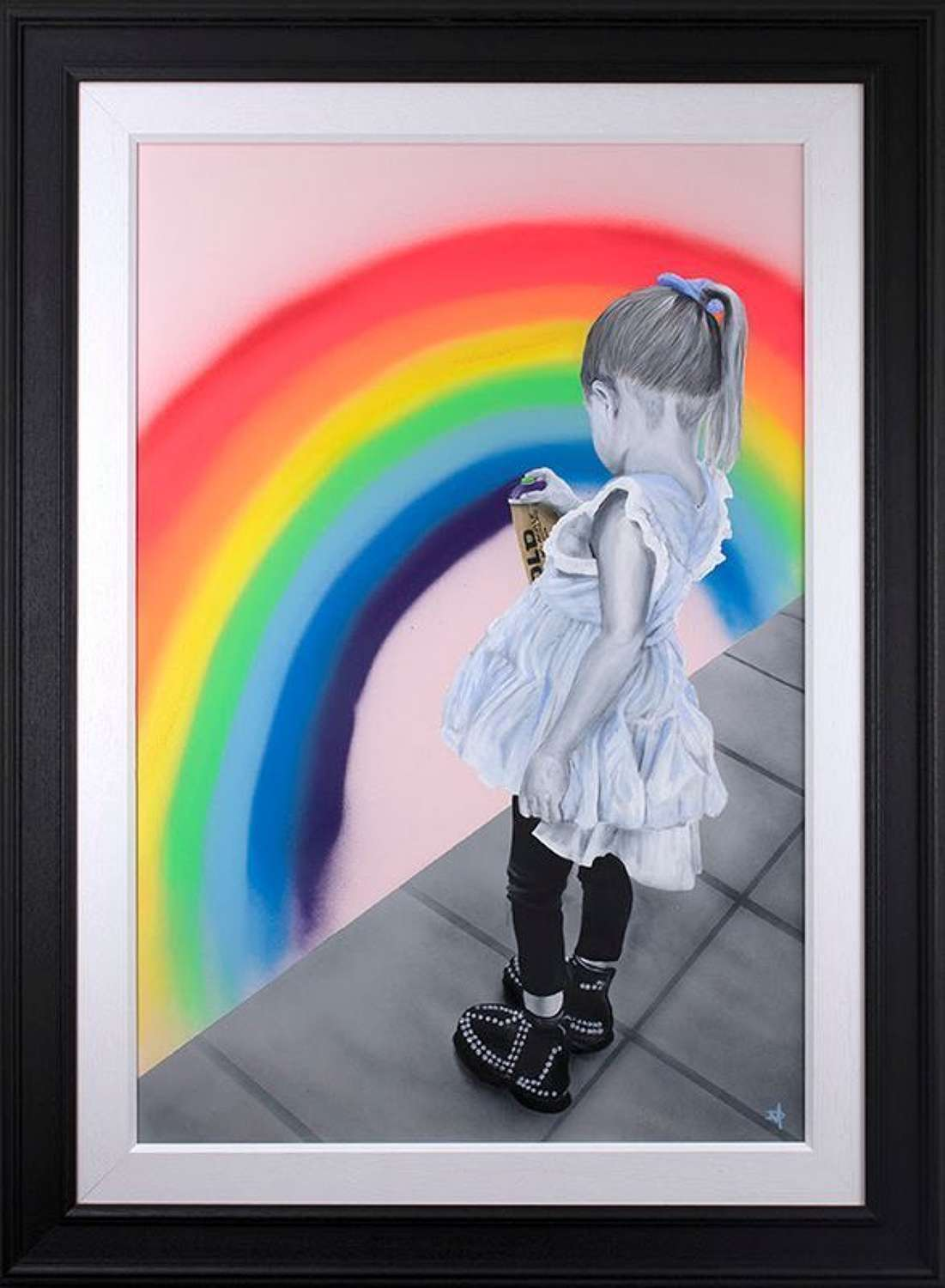 A Rainbow For Heroes Framed Art Print by Dean Martin