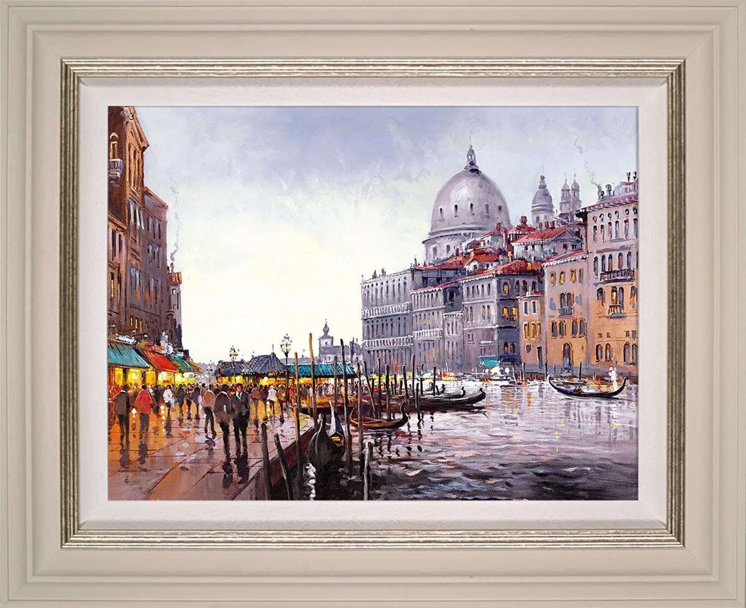 Venetian Lovesong - Framed Canvas Art Print by Henderson Cisz