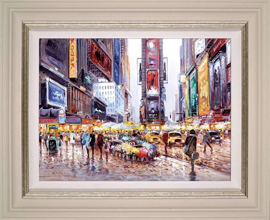 Heart of Manhattan - Framed Canvas Art Print by Henderson Cisz