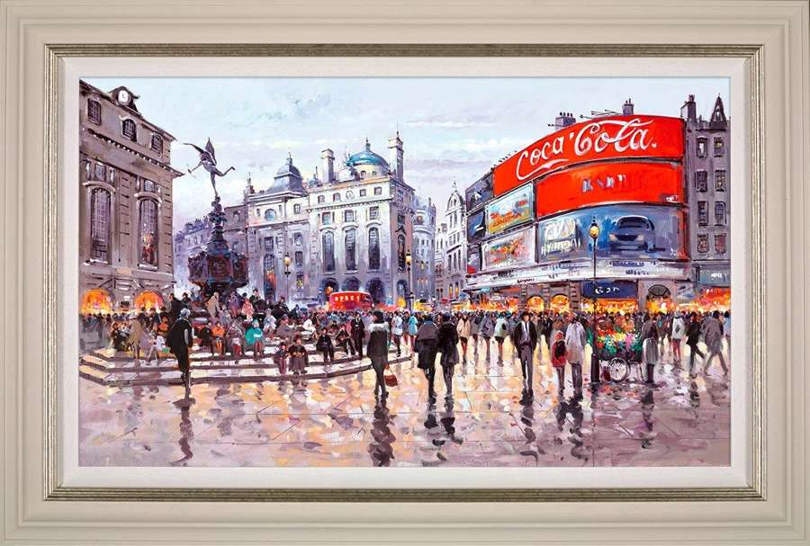 Love Affair with London - Framed Canvas Art Print by Henderson Cisz