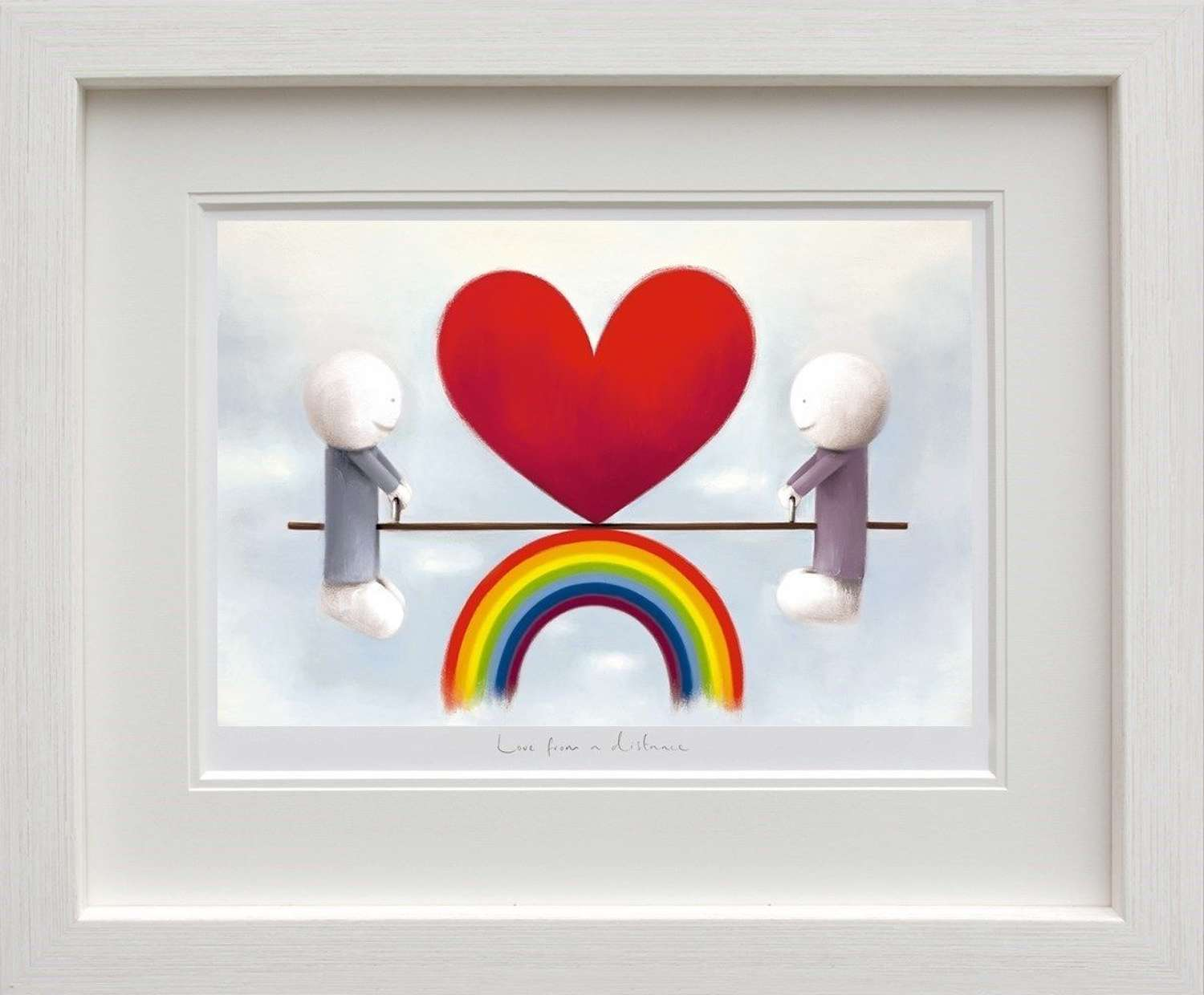 Love From A Distance - Framed Art Print by Doug Hyde