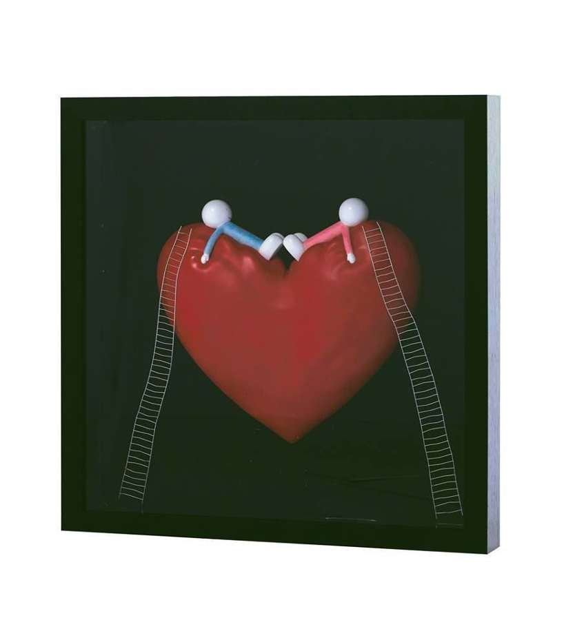 High On Love Objet D'art - Framed Art Print by Doug Hyde
