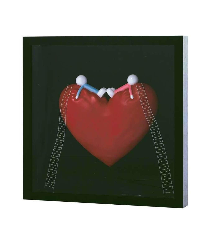 High On Love Objet D'art - Framed Art Print by Doug Hyde