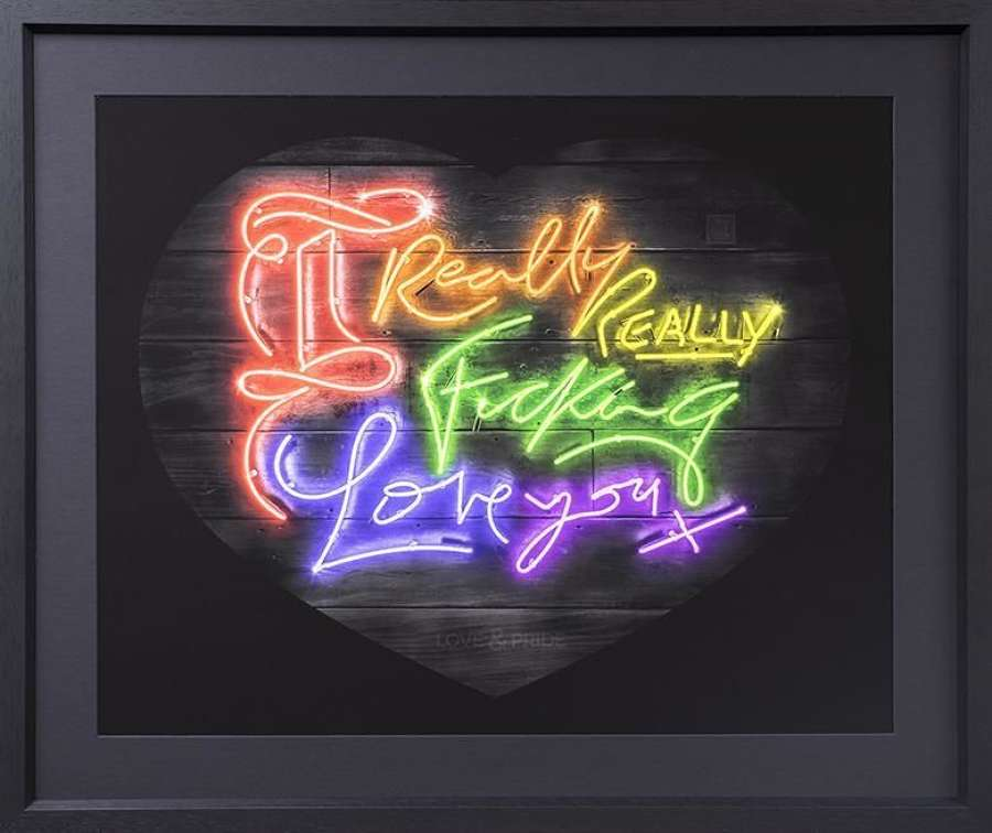 Love And Pride - Framed Art Print by Courty