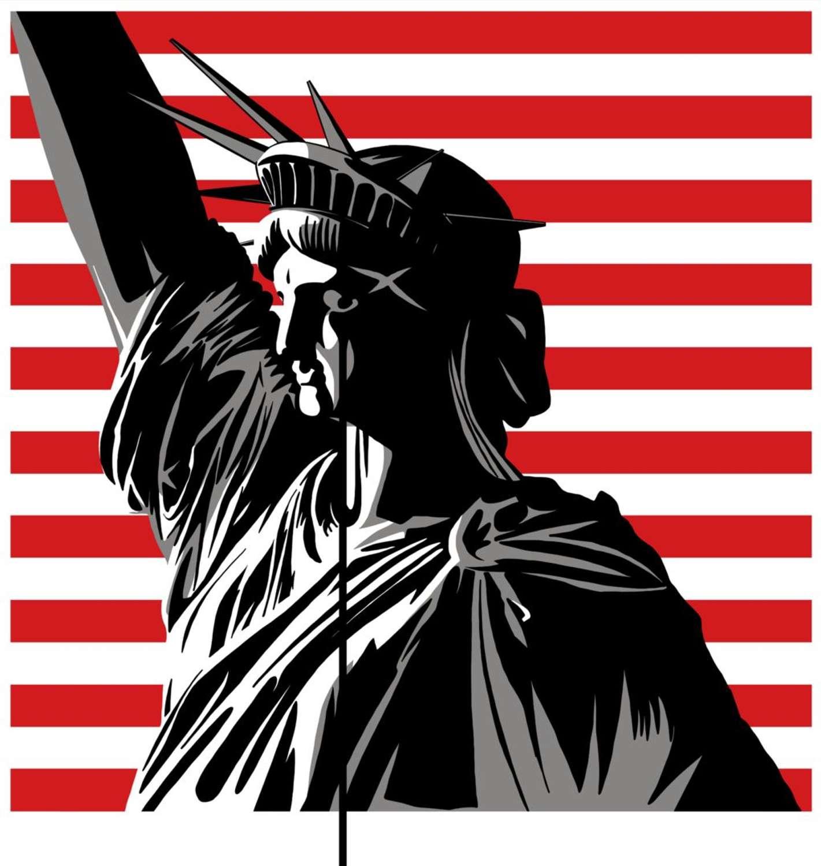 America's Nightmare - Born In The USA- Art Print by Pure Evil