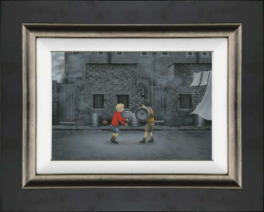 Let Battle Commence - Framed Canvas Art Print by Leigh Lambert