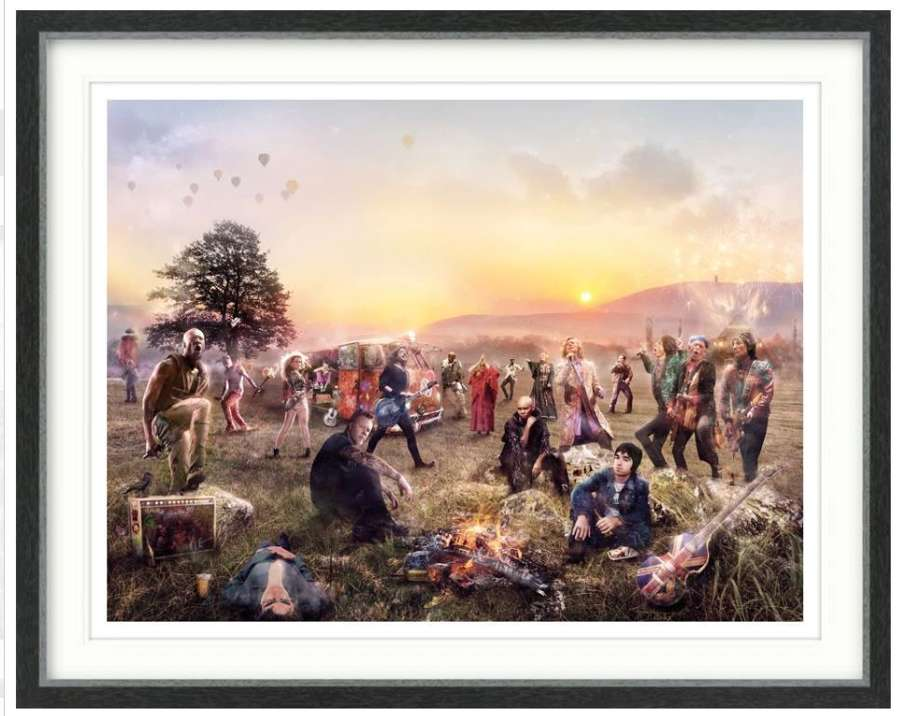 GLASTO! - Framed Art Print by Mark Davies
