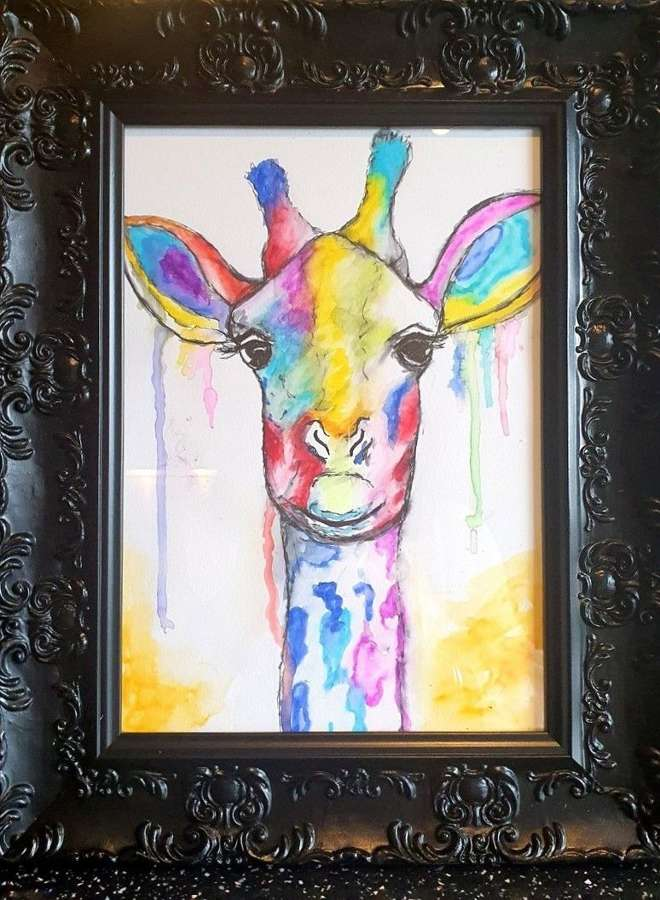 'You're having a Giraffe' By Melanie Jacobs-Original Watercolour