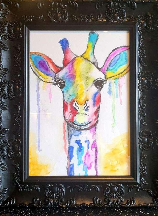 'You're having a Giraffe' By Melanie Jacobs-Original Watercolour