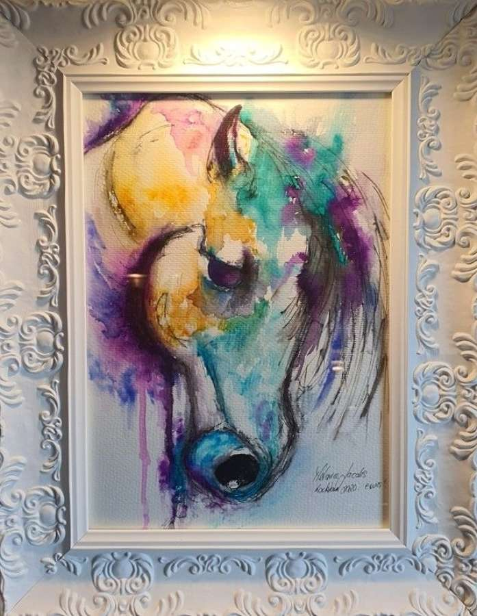Equus  -  Original Watercolour By Melanie Jacobs