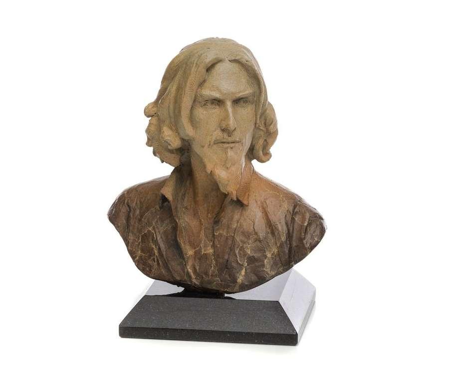 Self Portrait Bust - Bronze Sculpture by Fabian Perez