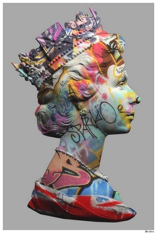 Long Live Queen-E - by Monica Vincent- Framed Art Print