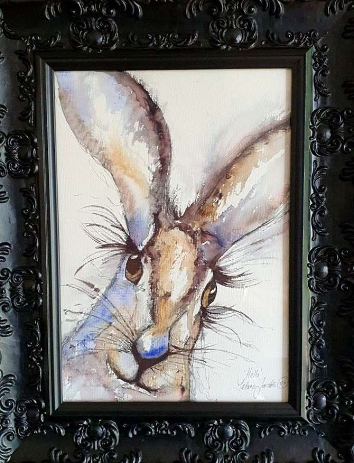'HELLO' - Original Watercolour By Melanie Jacobs