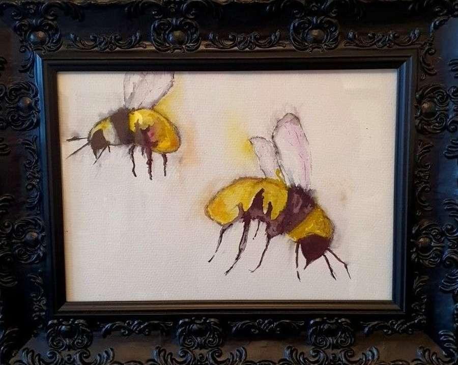 'Bee Happy' - Original Watercolour By Melanie Jacobs
