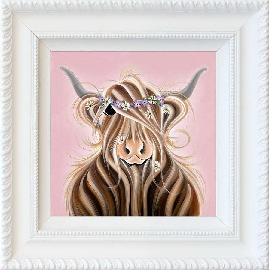 Flora McMoo - Framed Art Print by Jennifer Hogwood
