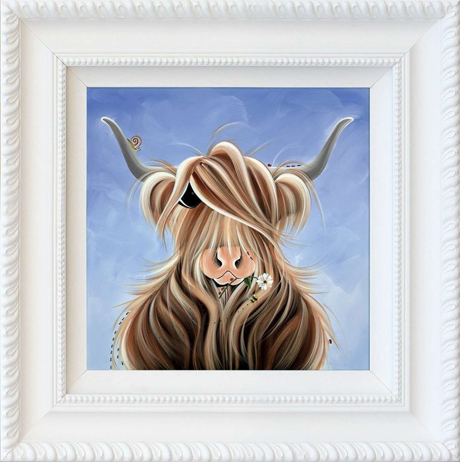 Finlay McMoo - Framed Art Print by Jennifer Hogwood