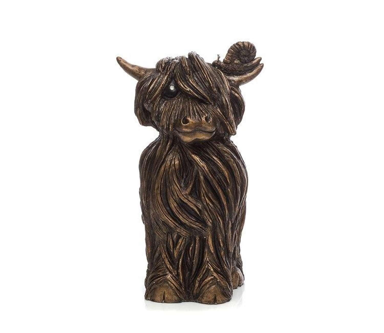 Finlay McMoo - Cold Cast Bronze Sculpture by Jennifer Hogwood