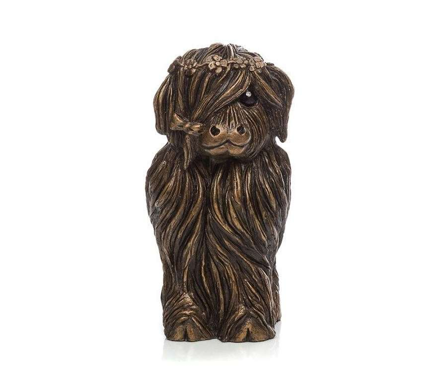 Flora McMoo - Cold Cast Bronze Sculpture by Jennifer Hogwood
