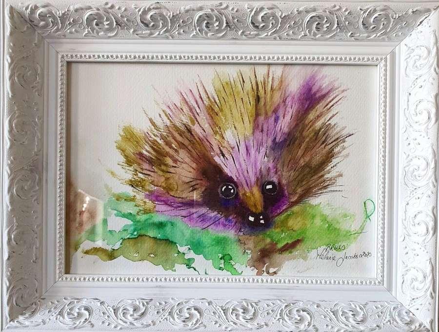 'Brillo The Hog ll' - Original Watercolour By Melanie Jacobs