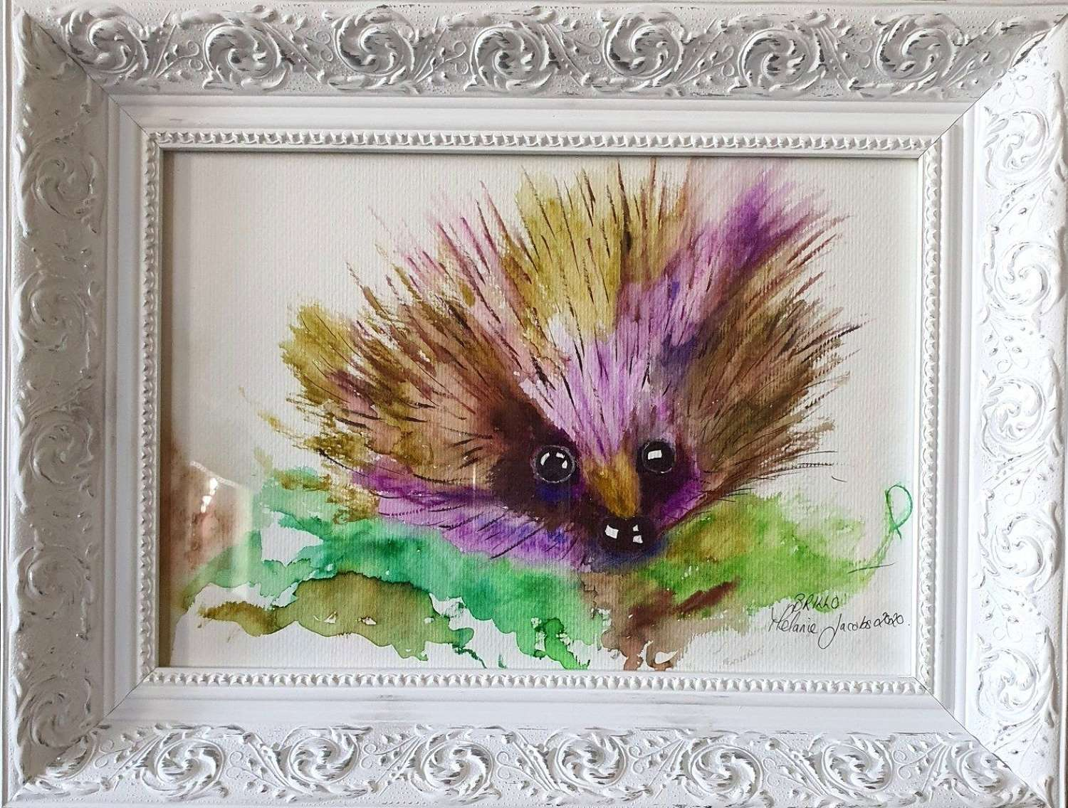 'Brillo The Hog ll' - Original Watercolour By Melanie Jacobs