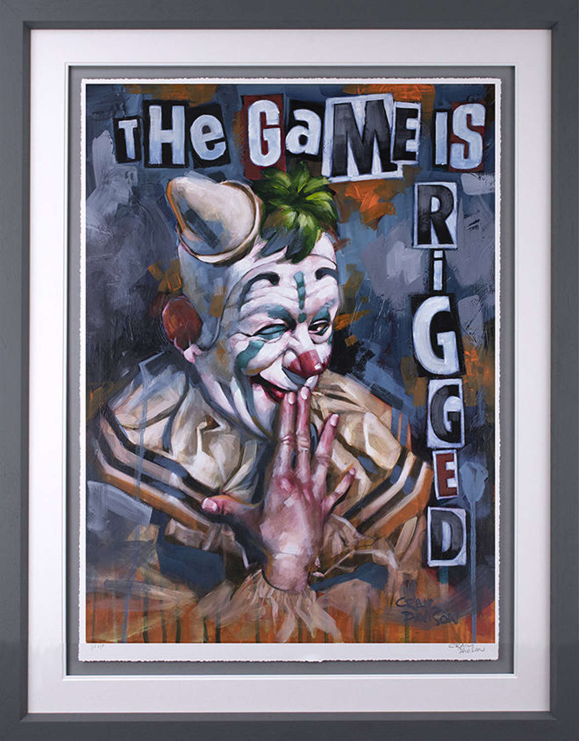 The Game is Rigged - Framed Art Print By Craig Davison