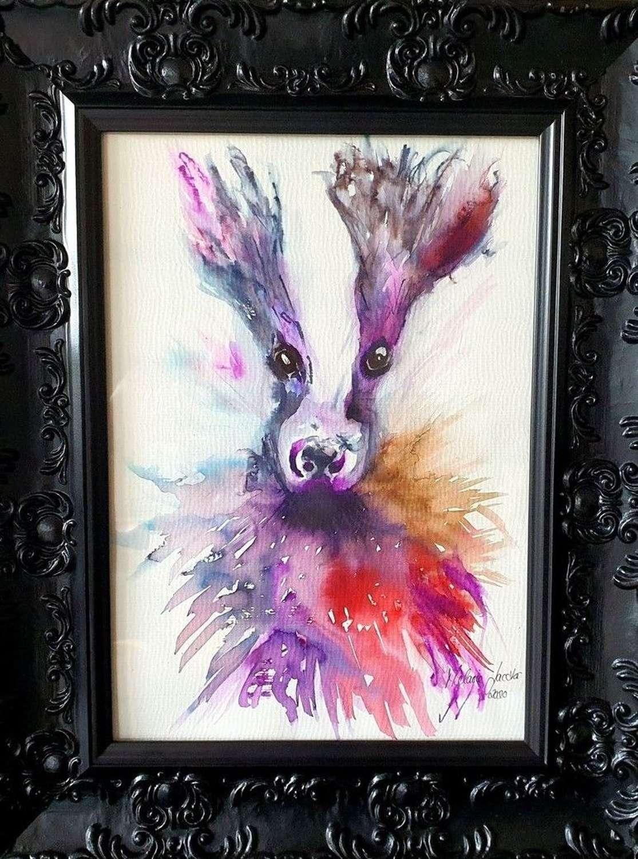 'Badger' - Original Watercolour By Melanie Jacobs